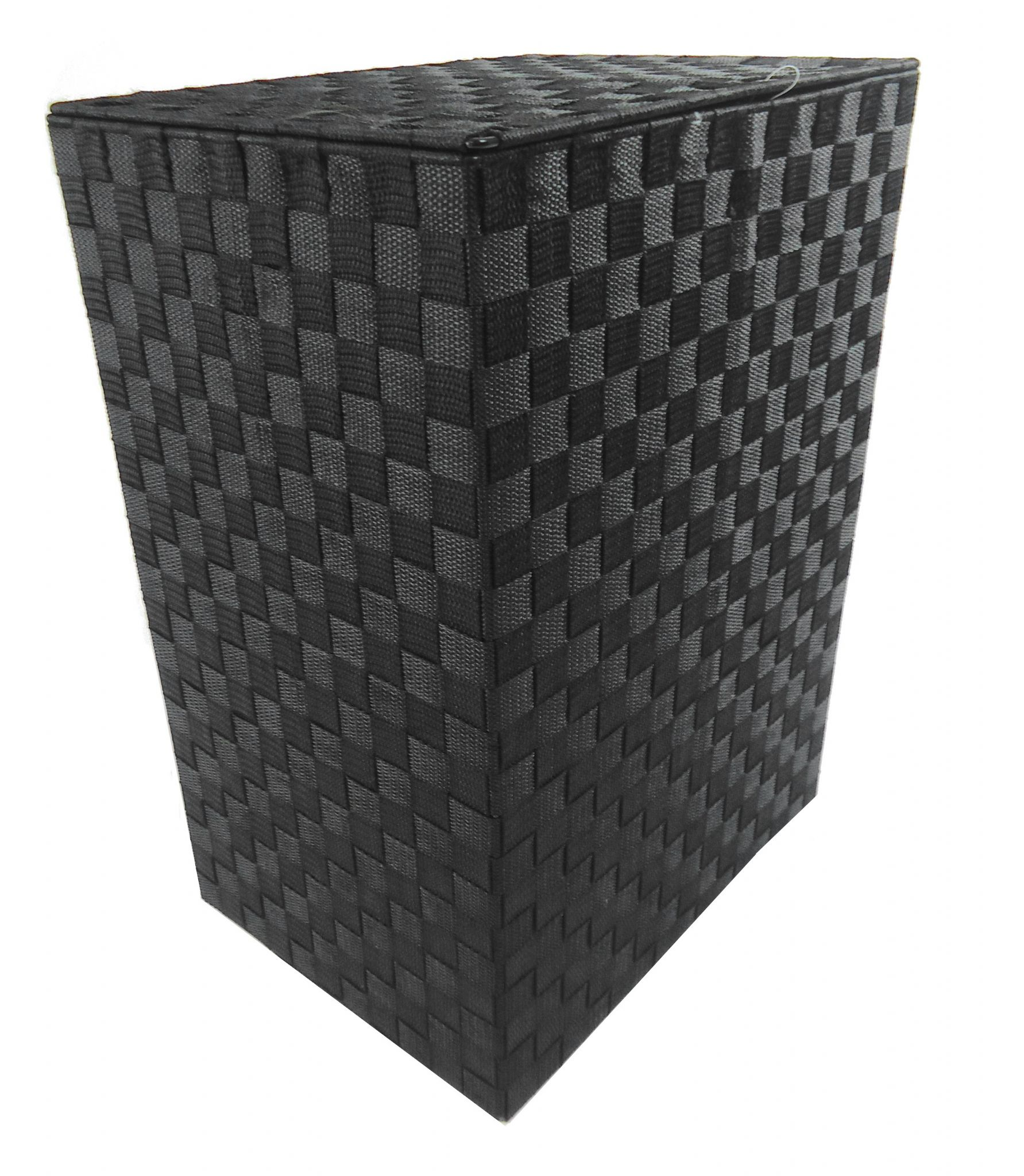 Brown Or Black Tapered Rectangle Laundry Basket Metal